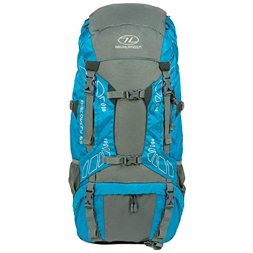 Highlander Discovery Rucksack Lightweight 45L, 65L & 85L Hiking Backpack with Waterproof...