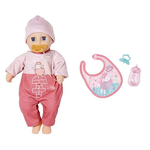 Zapf Creation 706398 Baby Annabell My First Cheeky Annabell, 30 cm & 702529 Baby Annabell Little Fütter Set mit Fläschchen, Schnuller und Lätzchen, Puppenzubehör, 3-teilig