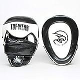 TUF WEAR Box-Fitness Victor Gel Curved Hook and Jab Pad Focus Pad Black White (Schwarz/Weiß)