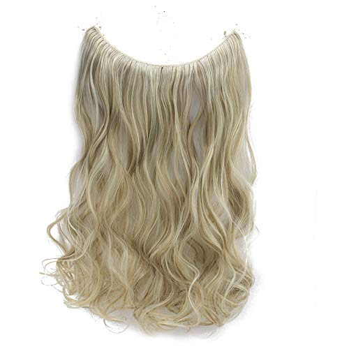 20 Synthetic Wavy Halo Hair Extension Natural Hairpieces No Clip No Glue No Tape Size Can Be Adjusted (16P613)