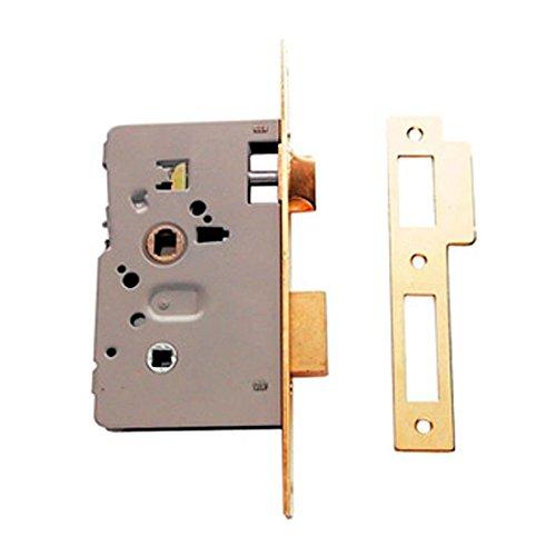 Tesa Assa Abloy, 201460HL, Cerradura de Embutir para Puertas de Madera, Acero Latonado, 60mm