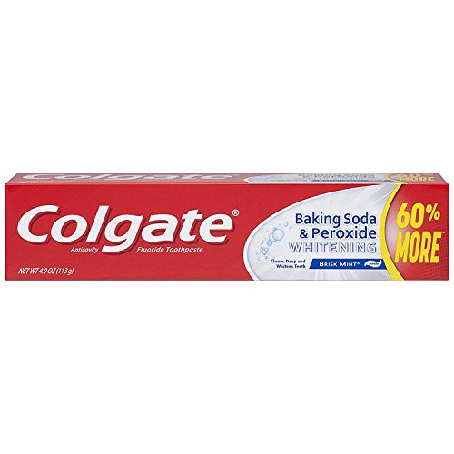 Colgate Baking Soda and Peroxide Whitening Toothpaste - 4 ounce (6 Pack)