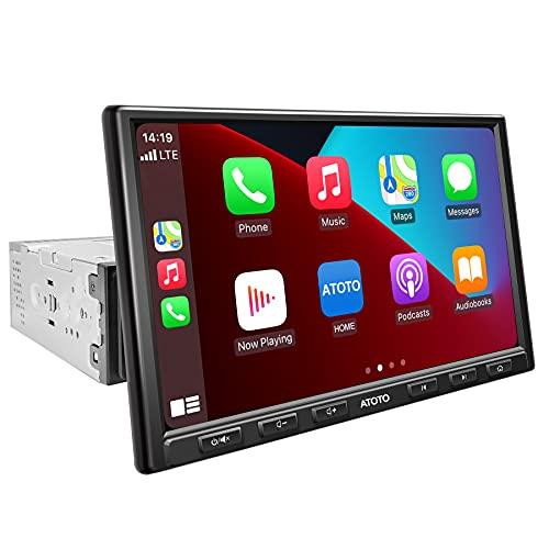 ATOTO (8 pollici) F7 Pro F7G1A8PE Singolo-DIN Autoradio-CarPlay e Android Auto, HD LRV (Live Rearview),Bluetooth, Phone Mirroring, Ricarica rapida, USB SD (fino a 2 TB di spazio di archiviazione)