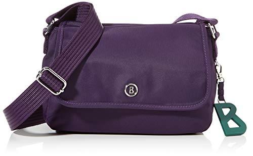 Bogner Damen Verbier Nuri Shoulderbag Shf Schultertasche, Violett (Purple), 8x15.5x23 cm