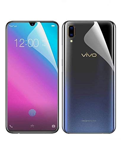 Blue Blood® 360° Buff Guard [Front + Back + Camera Lens] [Not Tempered Glass] Full Body Coverege Screen Protector for Vivo V11 − List 1168