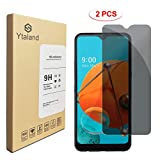 [2 Pack] Ytaland Privacy Screen Protector for LG K51, Anti Spy Anti Peep Tempered Glass Screen Protector