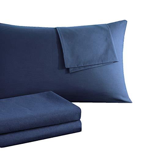 RUIKASI Kissenbezug Kissenbezüge 40 x 80 Doppelpack [2er Set] Atmungsaktive Baumwolle Antistatisch für Haar- und Gesichtspflege Kopfkissenbezug 40x80 Doppelpack - Dunkelblau