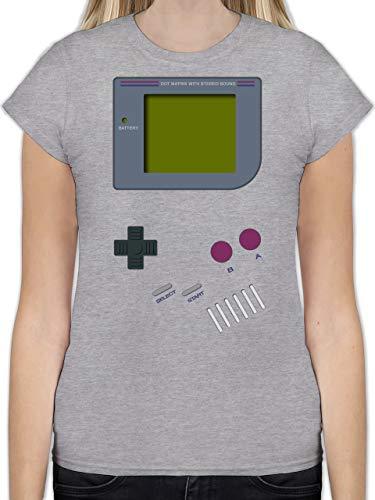 Nerds & Geeks - Gameboy - XL - Grau meliert - L191 - Tailliertes Tshirt für Damen und Frauen T-Shirt