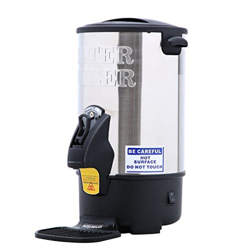 8 Litre (35 cup) Stainless Steel Catering Tea Urn / Water Boiler Commercial Catering Urn Digital Tea Boiler and Mulled Wine Warmer for Party,Catering Sports Clubs, Kitchens, café,Office