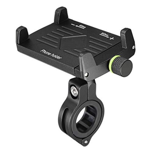 WXGZS Wiederaufladbare Handy-Halterung, Reitausrüstung Navigationshalterung Für Motorradlenker Handyhalterung Passend Für 3,6 Bis 6,5 Zoll Smartphones,Schwarz
