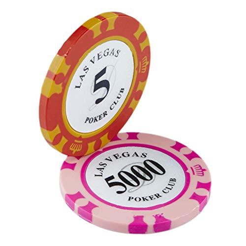 Smosyo Fichas de póquer Juego de póquer con 100 fichas láser Accesorios para Cartas de póquer Juego de póquer de Lujo Botón del Distribuidor, ciega Grande, ciega pequeña, Juego de póquer, Casino