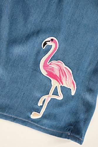 Applikation zum Aufbügeln, Patch, Flamingo, Pink