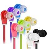 8 Pack Bulk Earbuds for Kids, Ear Buds for School Class, Headphones for Boys Girls, Comfy Multipack Sturdy Earphones for Kids - 8 Colors