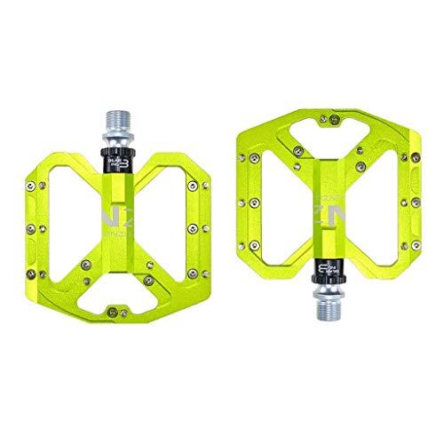 XYXZ Pedales de Plataforma para Bicicleta Pedales de Bicicleta, Aleación de Aluminio liviano Rodamiento Sellado Antideslizante Pedales de Plataforma de Bicicleta de Ciclismo universales de 9