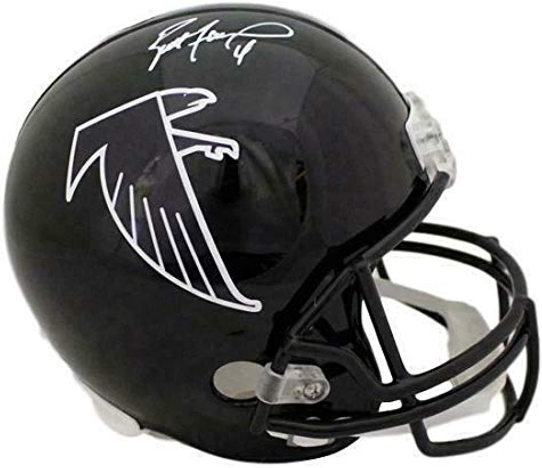 Signed Brett Favre Helmet  Replica 10594  Autographed NFL Helmets