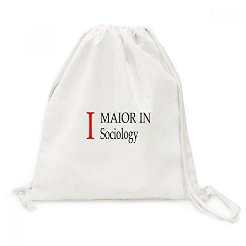 DIYthinker Ich Major Soziologie College-Student Canvas-Rucksack Reisen Shopping Bags