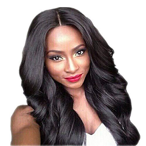 Naomi's zelfde zwarte pruik, groot golvend lang krullend haar, kunstmatige pruik, synthetische vezels op hoge temperatuur zijde, zwarte vrouwelijke pruik