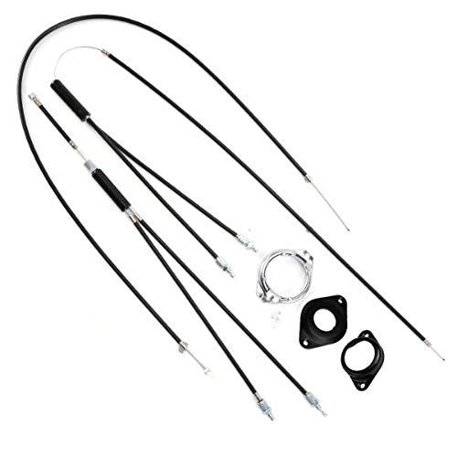 VILLCASE - Cavi per freno di bicicletta, kit di linea di freno, per bicicletta, BMX, professionali, cavo freno a mano, per mountain bike, bicicletta, 2 pezzi, colore: nero