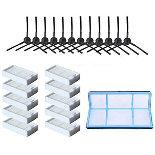 WPLHH Filtro de polvo Cepillo lateral Eficiente Filtro Hepa para V5 V5S V3 V3S V5Pro V50 V55 X5 V5S Pro Robot Partes de aspirador Partes aspirador