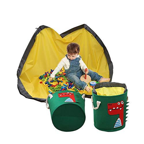 Anyingkai Kinder Aufräumsack,Aufräumsack Spieldecke,Aufräumsack,Spielzeugaufbewahrung Korb,Spielzeugaufbewahrung Korb mit Decke,Aufbewahrungsbeutel Spielzeug