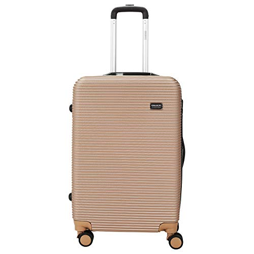 "!Innovation! Trolley HARDCASE Koffer M 24"" 68+INTEGRIERTE Waage Beige"