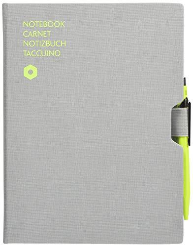 Caran D\'Ache Esferográfica 849 Amarelo e Caderno Pautado Cinzento A5