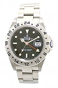 Rolex Oyster Perpetual Explorer II Steel Mens Watch 16570 image