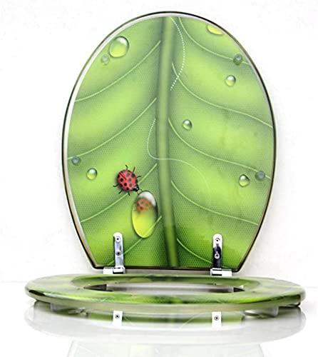 FTYYSWL Mjukstängande gångjärn, snabb frigöring, rengöring antibakteriell, topp/botten fästande toalettsits, för U/V/O-formad toalettsits