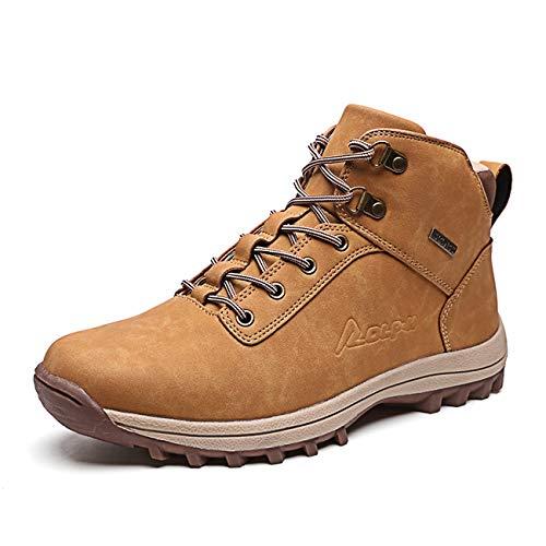 Botas de Montaña para Hombre, Zapatillas de Senderismo Impermeable Antideslizante Zapatos de...