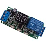 DC 5V 12V 24V Digital LED Display Infinite Cycle Delay Timer Switch ON/Off Relay Module (DC 12V)