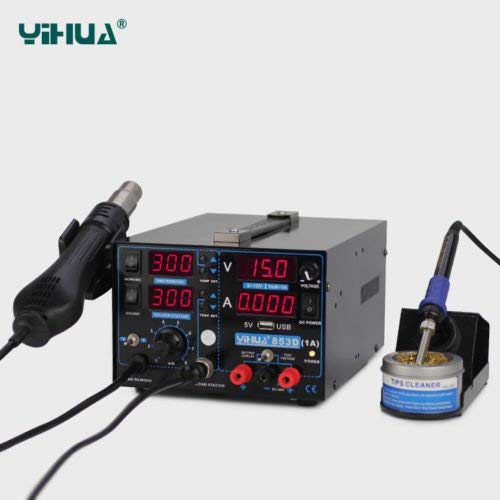 YIHUA-853D 1A: Alles in Einem Löt-, Heißluftstation 765W neu