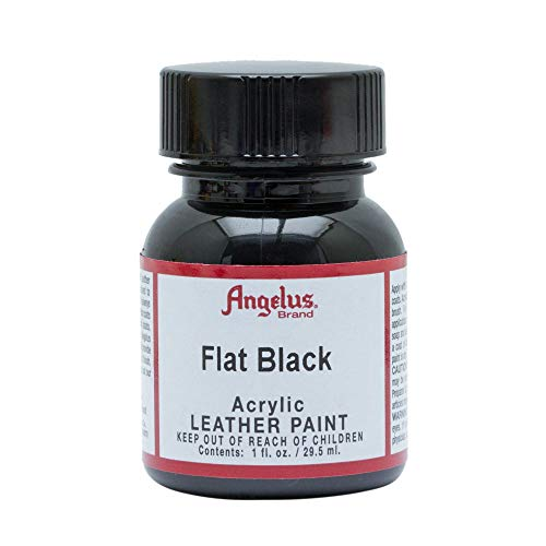 Angelus Acrylic Leather Paint, Flat Black