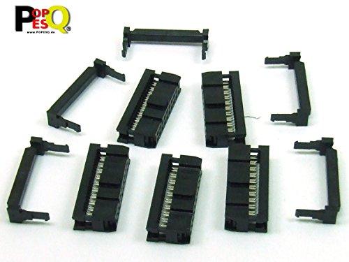 POPESQ® - 5 STK./pcs. x IDC 20 (2x10) polig/Way Stecker - für Flachbandkabel/Ribbon Cable 2.54mm #A1357