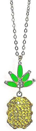 Collar de moda Collar colgante de acero inoxidable Simple con revestimiento de diamantes Collar de acero de titanio chapado en piña Joyas Mujeres Mujeres Regalo de oro para mujeres Hombres Regalos