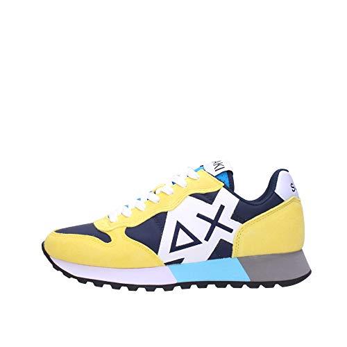 SUN 68 Sneakers Uomo Basse Z31113 0723 Jaki Party Time Navy Blue/Giallo Taglia 45 Navy Blu/Giallo