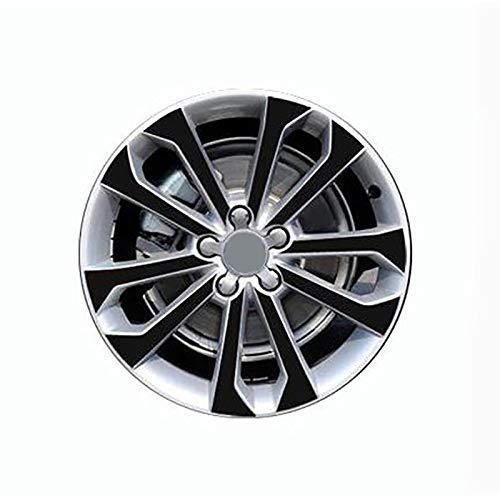 ZQTG 3D 4D Carbono/Mate/Pegatinas de Rueda Negras Brillantes para VW Audi Q5 2013-2017 Película Protectora de Vinilo Doble de Doble Rueda de 18'Etiqueta autoadhesiva de Estilo de Coche