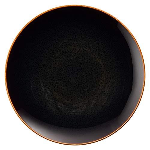 NARUMI(ナルミ) プレート 皿 あえか(aeca) 墨黒 ブラック 径19cm 電子レンジ温め 食洗機対応 58066-5617
