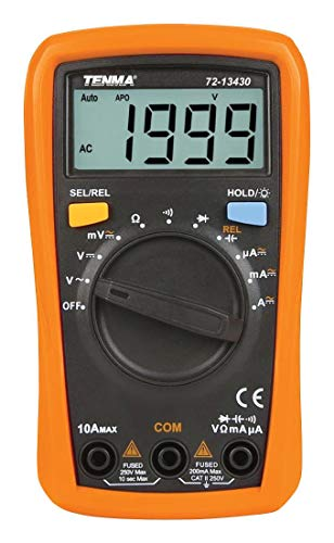 TENMA - 72-13430 - DMM, Handheld, AUTO/Manual, 2000 Count