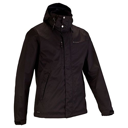 Quechua Arpenaz 300 Rain Jacket, Medium (Black)
