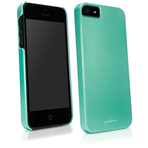 iPhone 5case, Boxwave [Pearl Minimus case] lucido Pearlized pastello cover rigida per Apple iPhone 5, 5S colore verde menta