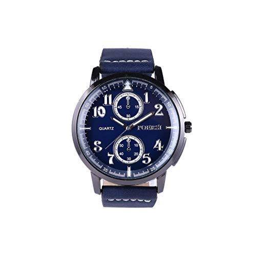 Luotuo Herren Armbanduhr,Mode Analog Quartz Uhr Simple High-End Glasspiegel und Lederarmband,Einzigartiges Zifferblattdesign Klassische Watch Die Beste Verzierung...
