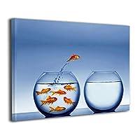 Skydoor J パネル ポスターフレーム 金魚 インテリア アートフレーム 額 モダン 壁掛けポスタ アート 壁アート 壁掛け絵画 装飾画 かべ飾り 30×40