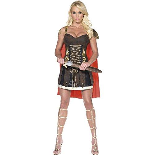 NET TOYS Sexy Gladiatorin Kostüm Kriegerin Kleid M 40/42 Gladiatorinnen Damenkostüm Römerin Verkleidung Kämpferin Outfit Damen Römerkostüm