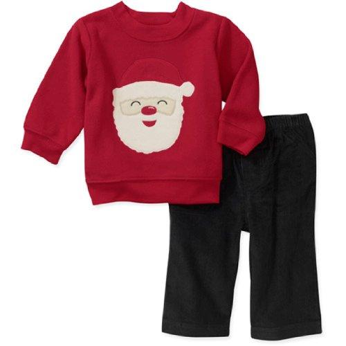 Carter S Child of Mine Baby Outfit in Pile Pullover Cord Pantaloni da Babbo Natale (0–24Mesi) Santa