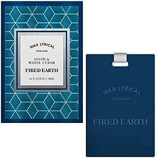 Wax Lyrical Scented Card – Assam & White Cedar – Fired Earth