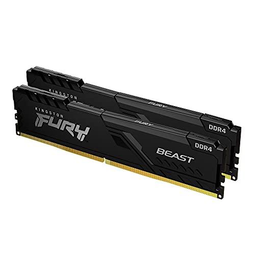 Kingston FURY Beast 16GB (2x8GB) 2666MHz DDR4 CL16 Memoria Gaming Kit per Computer Fissi Kit da 2 KF426C16BBK2/16