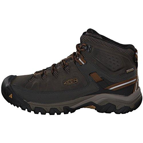 KEEN Men's Targhee III Mid Height Waterproof Hiking Boot, Black Olive/Golden Brown, 11 2E (Wide) US