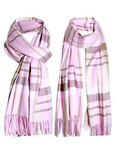 Vestido de lana de cachemira clásico de lujo de color rosa para invierno suave y cálido regalo especial para cualquier estación.