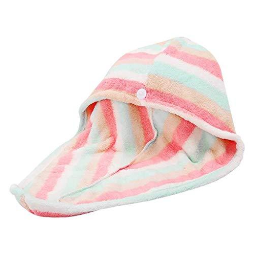 KAYBELE MKWLBFCZ Toallas envueltas para el Cabello Rápidamente Portátiles Accesorios de baño seco Sombrero de Pelo seco Corro de Ducha Microfibra Pelo Turban Super Absorben