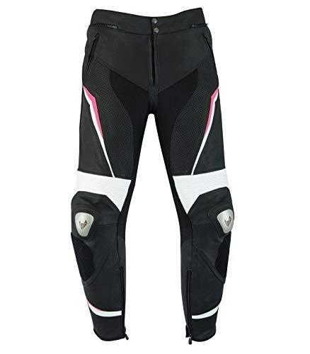 LOVO Pantalon de moto en cuir pour femme (XL)